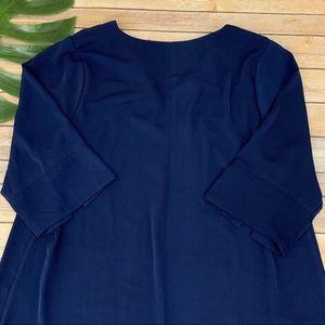 Eloquii Dresses - Eloquii women's navy blue 3/4 sleeve shift dress